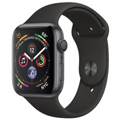 Смарт-часы Apple Watch Series 4 GPS 40mm Gray Alum. w. Black Sport b. Gray Alum. (MU662)