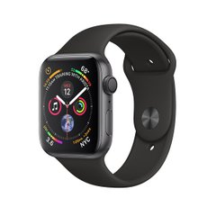 Смарт-часы Apple Watch Series 4 GPS 44mm Gray Alum. w. Black Sport b. Gray Alum. (MU6D2)